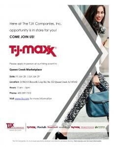 New Store Flyer - TJMaxx - QUEEN CREEK MARKETPLACE